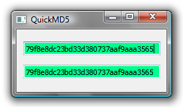 Screenshot of QuickMD5